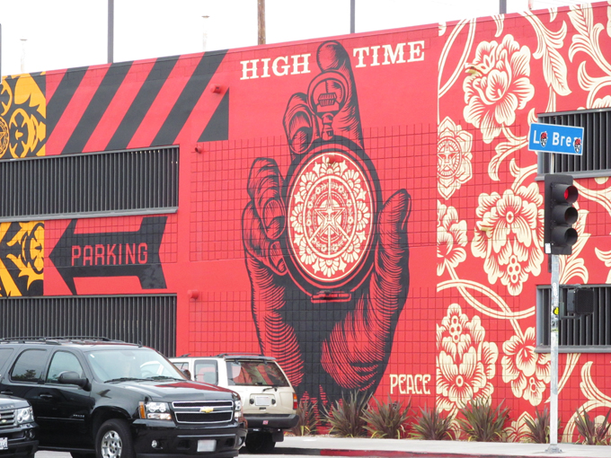 Mural by Obey, La Brea Avenue, Los Angeles