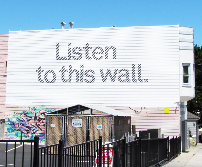 Mural, Listen to this wall, San Francisco