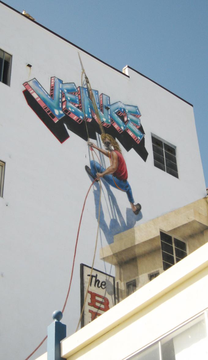 Mural, R. Cronk' self portrait, Venice Beach